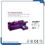 Base di sofà di cuoio poco costosa piegante moderna del Futon con il supporto di tazza, il nero,