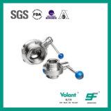 Válvula de borboleta sanitária Sfx053 da linha do aço inoxidável
