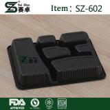 A gettare togliere il contenitore di alimento asportabile di plastica di microonda con il coperchio (SZ-602)