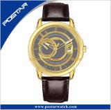 Het matte Automatische Horloge van het Geval van het Plateren van de Wijzerplaat met Transparante Caseback