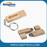 최상 장방형 로고를 가진 나무로 되는 대나무 USB 섬광 드라이브
