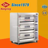 Berufsgas-Pizza-Backen-Ofen des bäckerei-Geräten-3-Deck 6-Tray