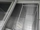 Congélateur en verre de poitrine de porte pour la crême glacée