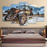 El coche roto viejo HD del arte de la lona de pedazo 5 imprimió impresiones del cartel del cuadro de la pintura de la lona de la decoración del hogar del arte de la pared
