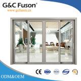 L'aluminium +Glass choisissent s'arrêter glissant les portes intérieures