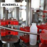 Bouteille de liquide de conception utile PE avec plafonnement de la machine de remplissage en aluminium