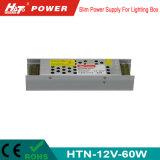 электропитание переключения 12V 60W тонкое СИД для светлой коробки