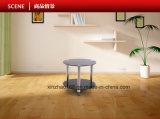 Jogo de madeira moderno da tabela de jantar da base do aço inoxidável