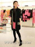 도매 의상 디자이너 형식 여자의 뜨개질을 한 모직 긴 외투 겉옷