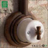 Interruptor ligero eléctrico de cerámica de la vendimia en color negro