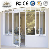 2017 portes en verre en plastique de tissu pour rideaux de la fibre de verre bon marché UPVC/PVC des prix d'usine de coût bas avec le gril à l'intérieur en vente