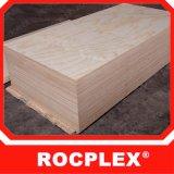 2440X1220 madera contrachapada 17m m, madera contrachapada de madera de goma de la chapa