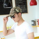 Kundenspezifischer justierbare Baumwolltarnung-taktischer 6 Panel-Baseball-Hut 100% mit Camo