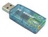 5.1チャネルサポート3D音が付いているUSBのサウンドカード
