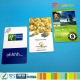 주문 변하기 쉬운 Barcode 또는 QR 부호에 의하여 인쇄되는 PVC ntag213 NFC 카드