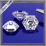 Joyas Popular Ef de color blanco de forma hexagonal Moissanite Gemstone