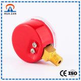 赤いケースの圧力計のVibration-Proof溶接の圧力計