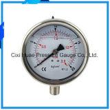 Fabrication professionnelle d'indicateur de pression de manomètre/acier inoxydable