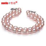 6-7mm doppelte Strang-ovaler Form-Lavendel-natürliches kultiviertes Perlen-Armband, Perlen-Schmucksachen