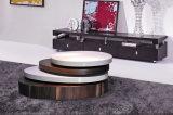Mobília moderna da mesa de centro do MDF do branco da sala de visitas da forma (CJ-M057F)