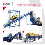 De de plastic PE van pp Wasmachine van de Fles en Lijn van het Recycling