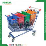 スーパーマーケットポリエステルナイロン再使用可能なFoldable折る野菜ショッピング・バッグ(4セット)