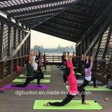 Stuoia antisdrucciolevole strutturata materiale ecologica di yoga del TPE