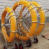 300m de cable de fibra de vidrio Varilla empujar tirando Rodder conducto