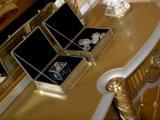 0016 황금 색깔 고아한 호화스러운 거실 Buffet