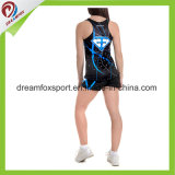 Desgaste atractivo de las medias de la animadora de los uniformes de la sublimación de la impresión de la práctica de encargo del Cheerleading