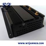 高い発電3G 4Gの携帯電話UHF VHF WiFiの妨害機