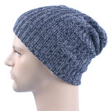 メンズ柔らかい伸張の無能の冬によって編まれる二重層の暖かい帽子の帽子の帽子(HW424)