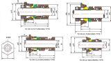 Ts-Cr-Dichtung (für GRUNDFOS-PUMP) lochte Hülse, maschinell bearbeitete Hülse