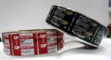 Het Etiket van de batterij met Fijne Gedetailleerde Druk
