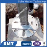 Rieles de montaje de paneles solares estructura de fijación de tornillo de tierra