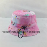 調節可能なストリングが付いている昇華印刷の方法子供または子供のバケツの帽子か帽子、フロッピー帽子