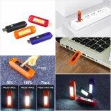 Lanterna LED recarregável USB brilhantes Chaveiro Lanterna