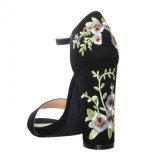 Оптовой ботинки сандалий Rose высокой пятки способа грубой вышитые повязкой