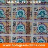 Etiqueta de papel de carimbo quente holográfica da impressão da fibra
