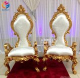 Foshan Mobilier chaleureux de l'Or trône roi et reine Président Chaises de mariage