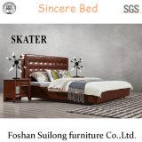 최고 디자인 현대 미국식 직물 침대 가죽 침실 침대