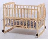 [أم] عجلات قابل للتعديل خشبيّة [ببي كت] سرير جون