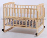 Шпаргалка кровати кроватки младенца регулируемых колес OEM деревянная