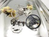 인종 훅 금속 나비 모양 원형 귀걸이
