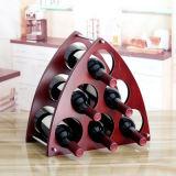 Rek van de Wijn van de Flessen van de Wijn Rack/6 van de driehoek het Houten/Creatief Rek