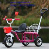 Bebé modificado para requisitos particulares fabricante Trike del triciclo de niño del triciclo del bebé del asiento doble