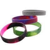 Bracelet en silicone avec gravé Lettre, Excellent bracelets en plastique transparent