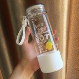 Творческий поток фрукты дизайн портативных широкий рот стеклянная бутылка воды