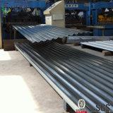 波形のシート材料に屋根を付けるアルミニウム亜鉛金属