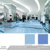 Tegel van de Vloer van het Porselein van het Bouwmateriaal van China Foshan De Donkerblauwe Verglaasde Marmer Opgepoetste (VRP6I220; 600X600mm/24 '' x24 '')